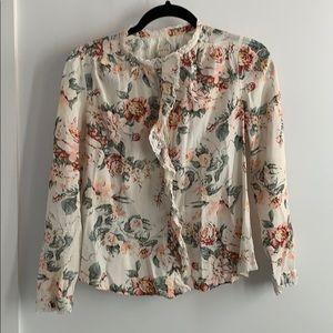La Vie, by Rebecca Taylor cotton floral blouse